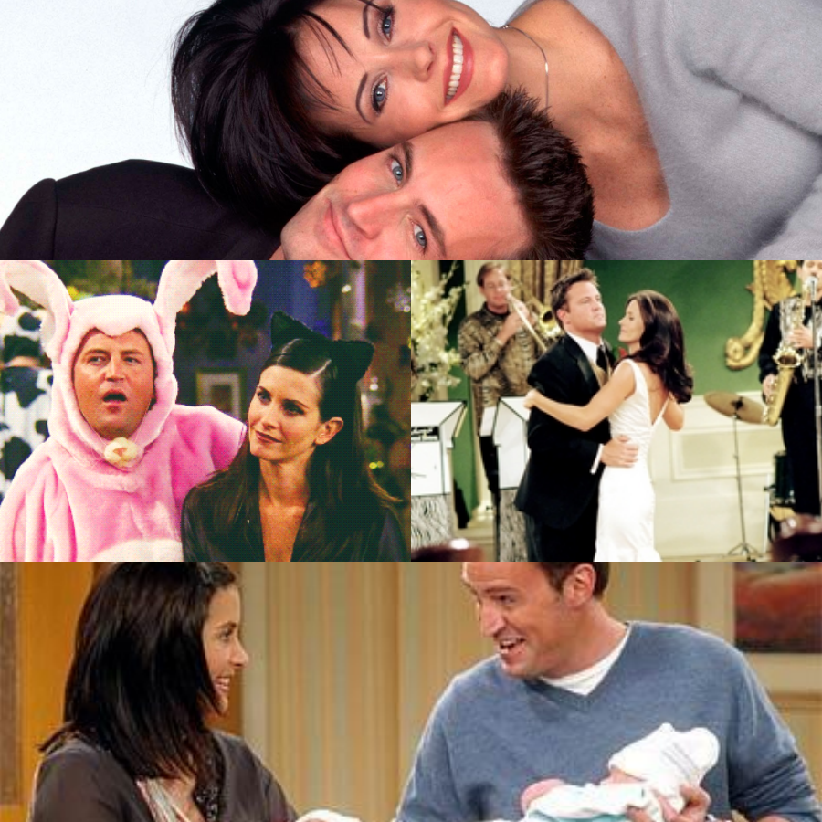 collage chandler e monica
