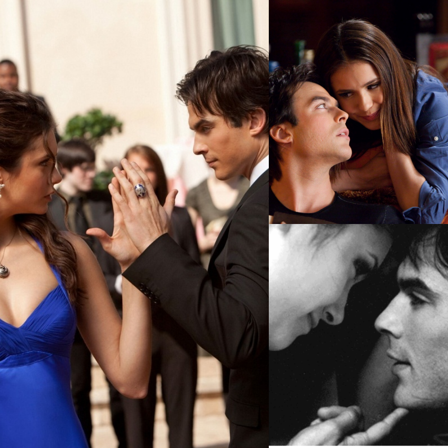 collage damon e elena